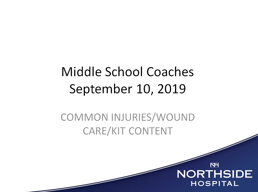 GCPS Middle School Wound Care