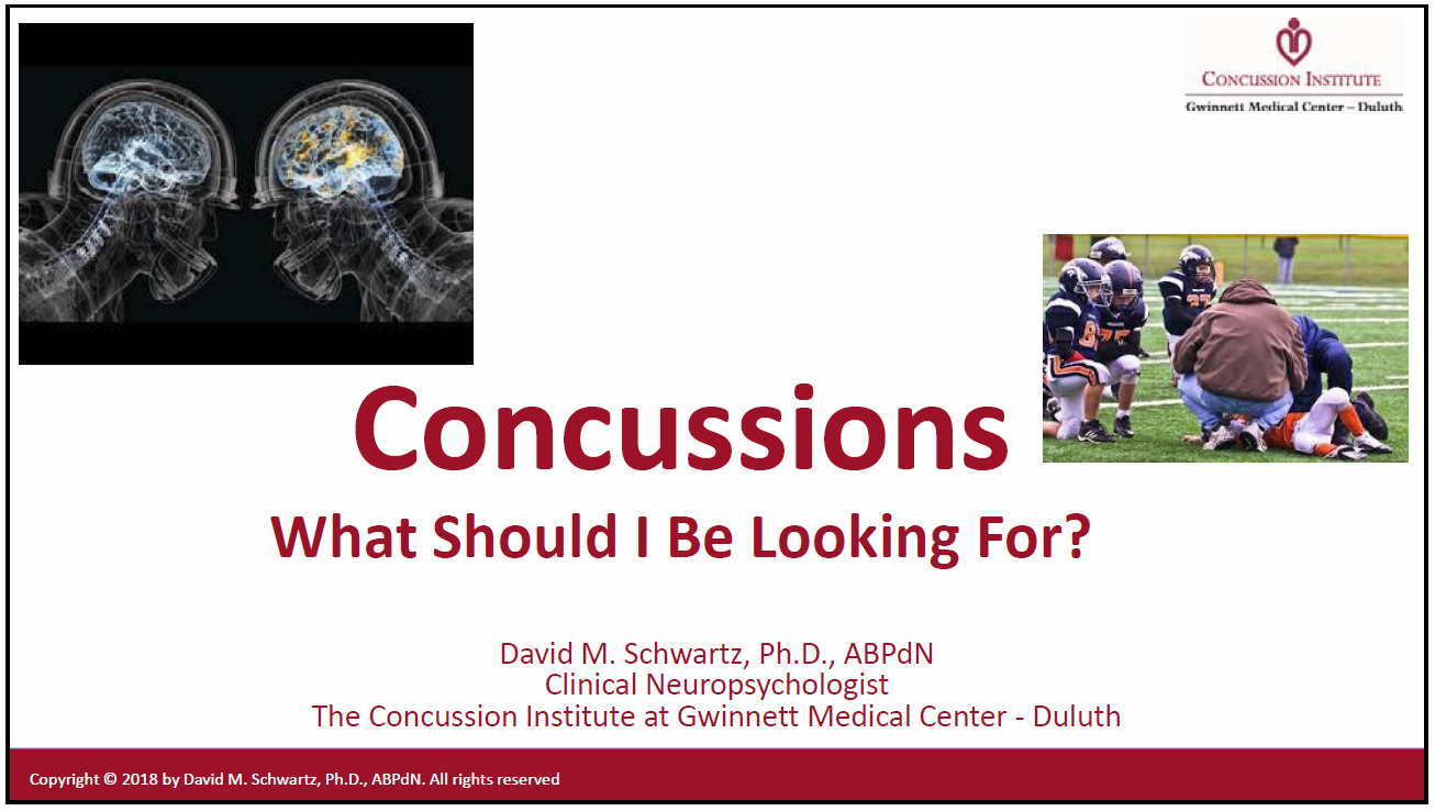 Concussions - What Should I Be Looking For