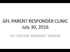 GFL Parent Responder Clinic powerpoint